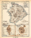 Hawaii vintage map