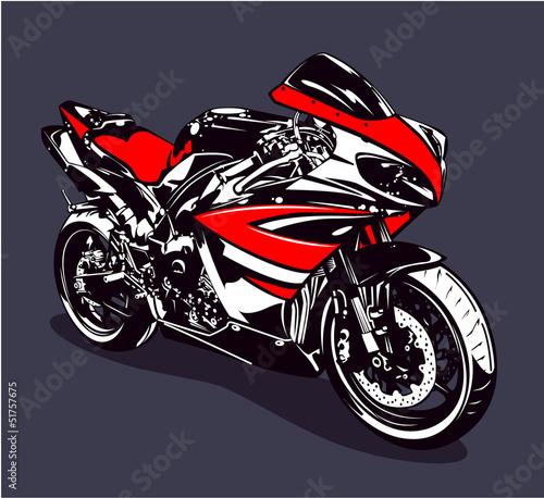 Fotobehang Motorfiets Red sport motorbike