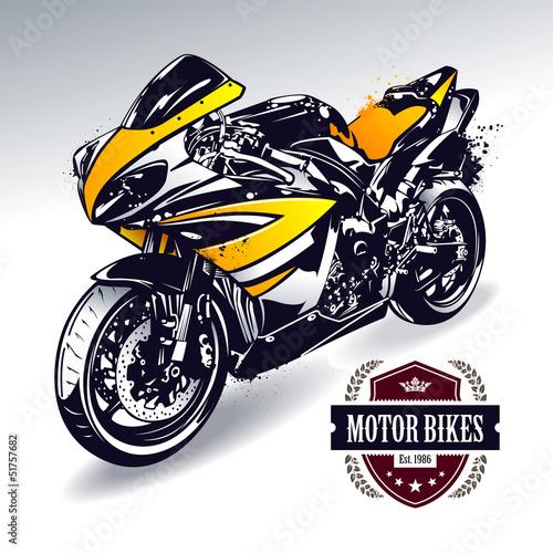 Poster Motorfiets Sport motorbike