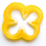 Yellow paprica pepper slice