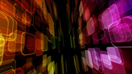 colourful luminous background with squares loop
