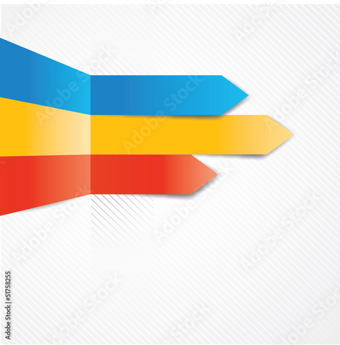 Colored abstract arrows