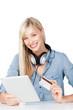 frau bestellt musik online