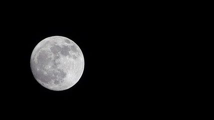 Full Moon - clear sky,  timelapse