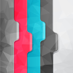 Business geometric background. Paper numbered banners.