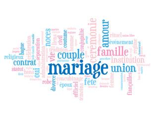 """Nuage de Tags """"MARIAGE"""" (amour noces couple fête robe mariée)"""