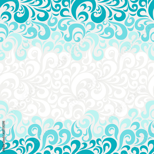 Abstract seamless floral pattern.