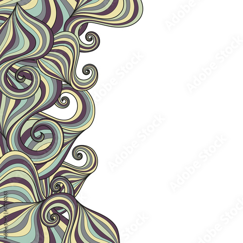 Banner with waves pattern and place for your text in vector.