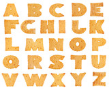 Letters of the alphabet in the form of a cookie