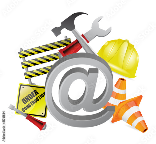 online under construction illustration design