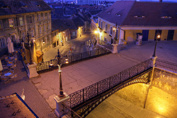 Liar's Bridge in Sibiu, Romania