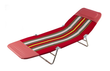 beach chair or relaxing chair isolated on white