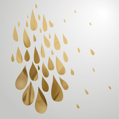 Gold rain / Surreal floral drops
