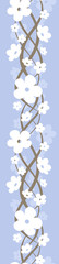 Vertical seamless background with flowers. Vector illustration.