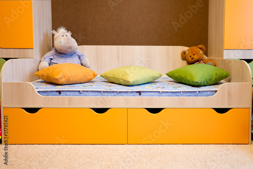 Bed in the children's room