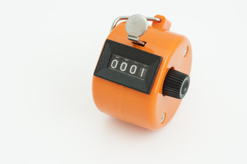 Orange Hand tally counter
