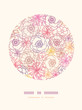 Vector subtle field flowers elegant circle decor pattern