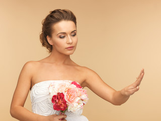 bride with wedding ring