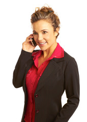 Beautiful business woman talking on cellphone