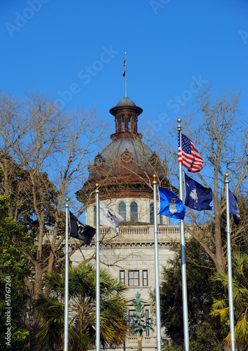 Capitol and Flags SC