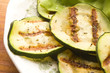 Grilled organic zucchini slices with herbs and spices