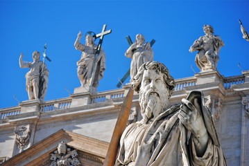 Vaticano - Piazza San Pietro - Statua San Paolo Apostolo