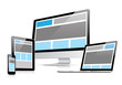 canvas print picture - Responsive web design in electronic devices vector eps10