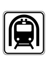 Schild U Bahn