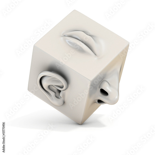 mouth nose ear abstract 3d illustration