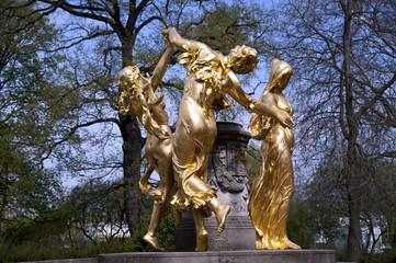 Mozartbrunnen Dresden Detail