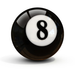 eight ball isolated on white