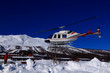 Heli skiing embarking