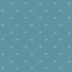 Fabric Texture Background - Hearts - Cuori su lino colorato