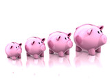 piggy banks savings growth 3d illustration