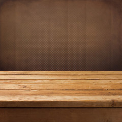 Vintage retro background with wooden table