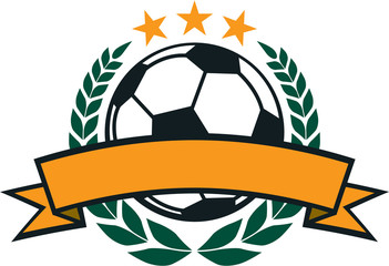 Vector Soccer Laurel Wreath
