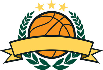 Vector Basketball Laurel Wreath