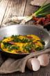 fresh made omlette