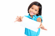Girl With White Paper