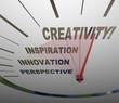 Creativity Innovation Imagination Speedometer New Ideas