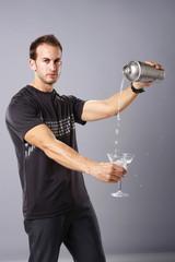 Serving a cold martini