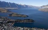Beautiful scenery of Queenstown bay, Wakatipu lakem NZ