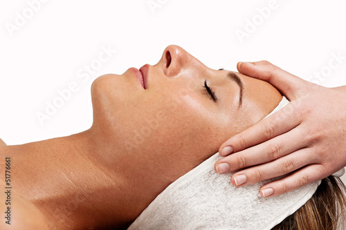 canvas print picture beauty treatment, profile