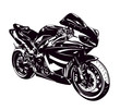 Sport motorbike isolated on white