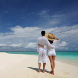 Couple on a beach at Maldives