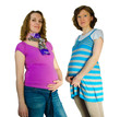 Two pregnant women in the studio