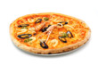 big italian pizza with seafood and norway lobster