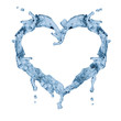 heart shape symbol from water on white