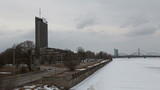Riga city river winter view 1080P