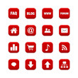 Icons Set for Web Applications & Internet - Vector icons